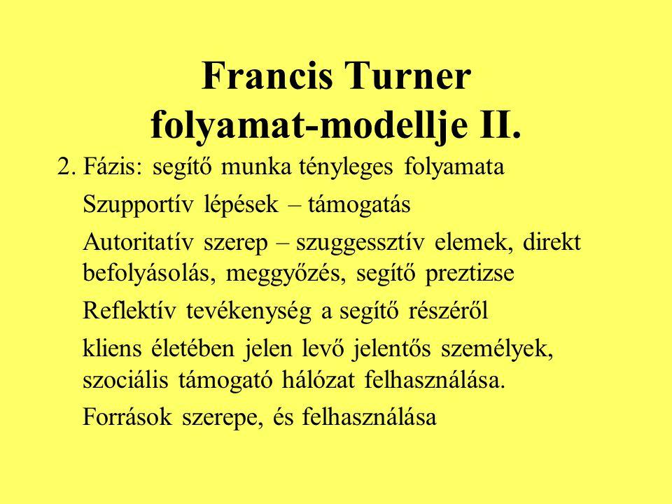 Francis Turner folyamat-modellje II.