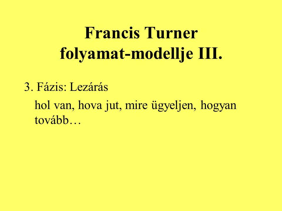 Francis Turner folyamat-modellje III.