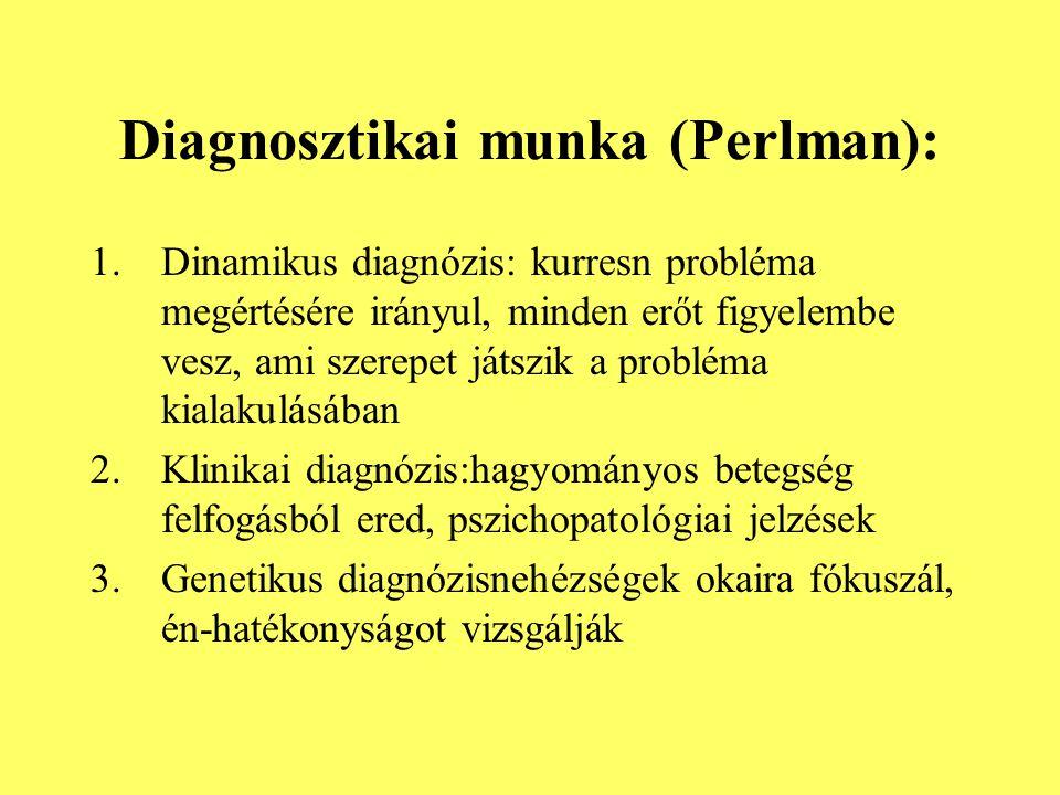 Diagnosztikai munka (Perlman):
