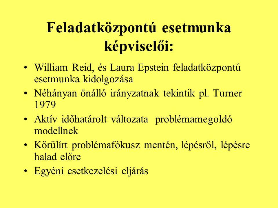 Feladatközpontú esetmunka képviselői: