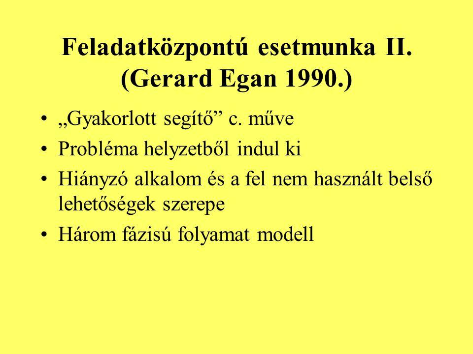 Feladatközpontú esetmunka II. (Gerard Egan 1990.)