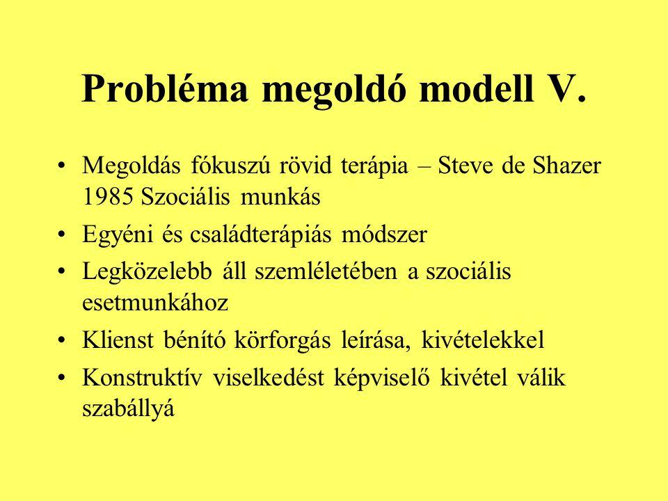 Probléma megoldó modell V.