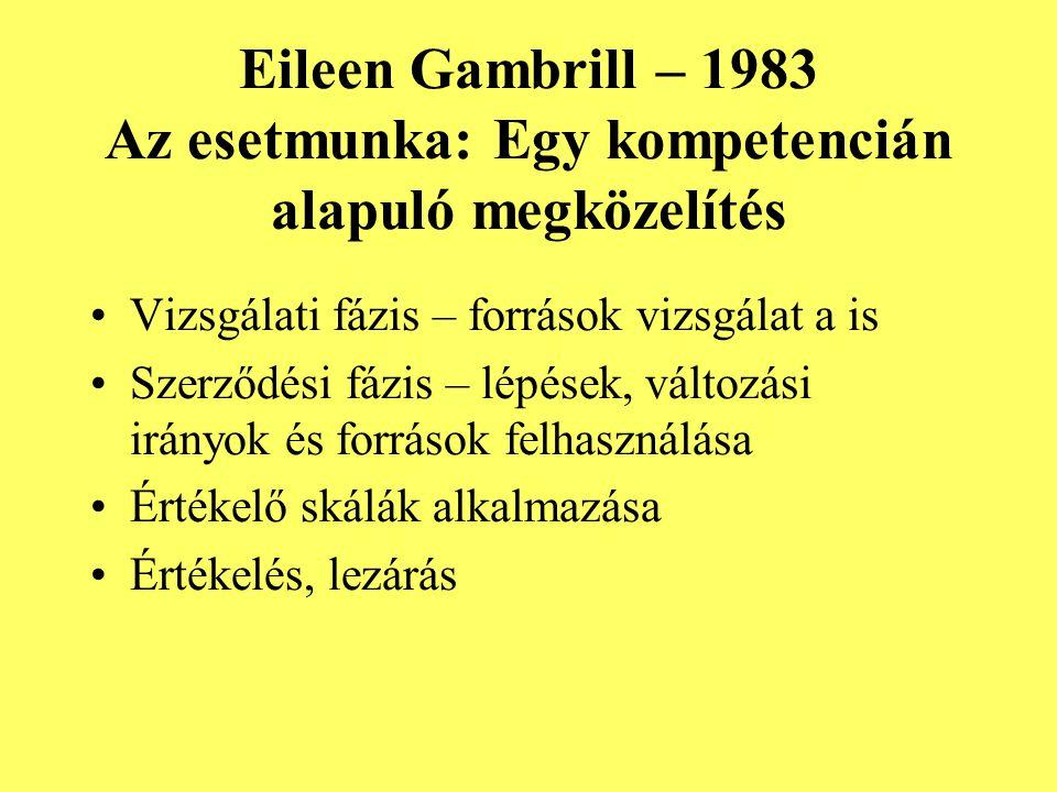 Eileen Gambrill – 1983 Az esetmunka: Egy kompetencián alapuló megközelítés