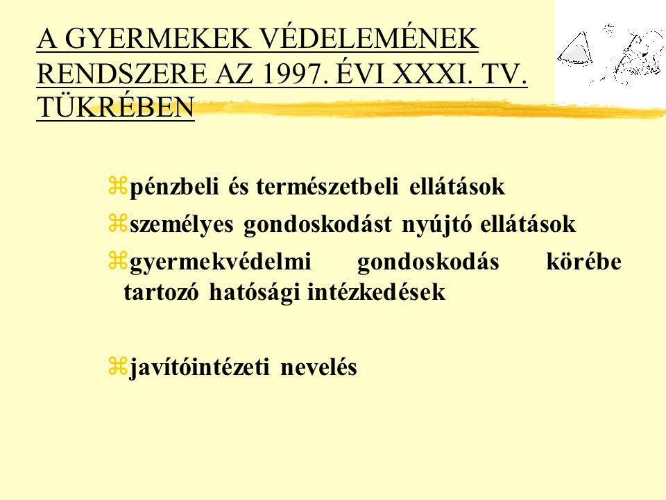 A GYERMEKEK VÉDELEMÉNEK RENDSZERE AZ 1997. ÉVI XXXI. TV. TÜKRÉBEN