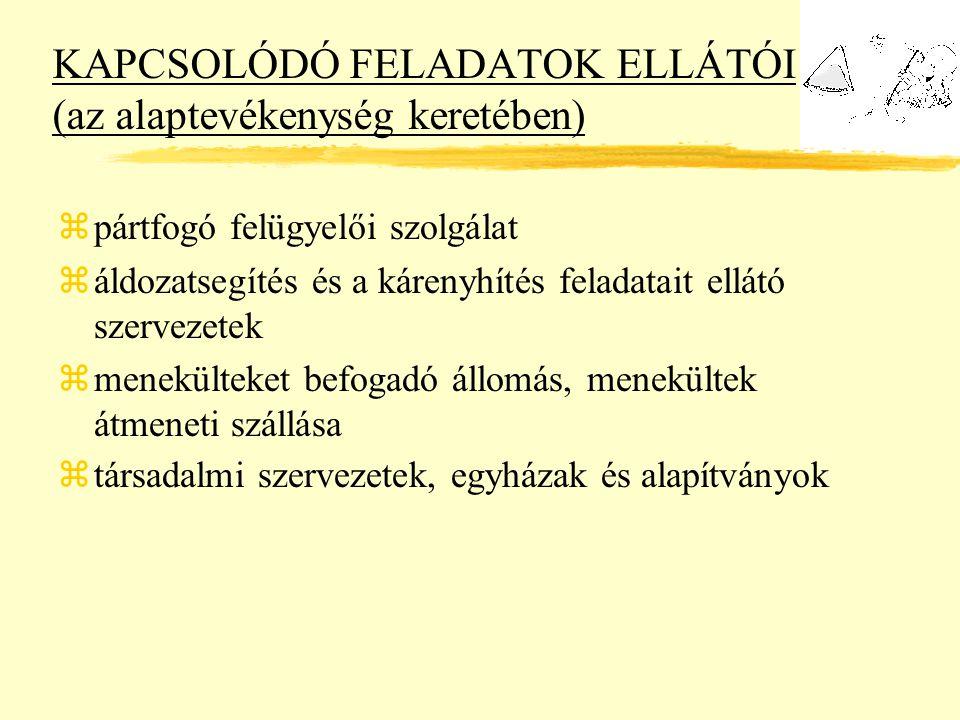KAPCSOLÓDÓ FELADATOK ELLÁTÓI (az alaptevékenység keretében)