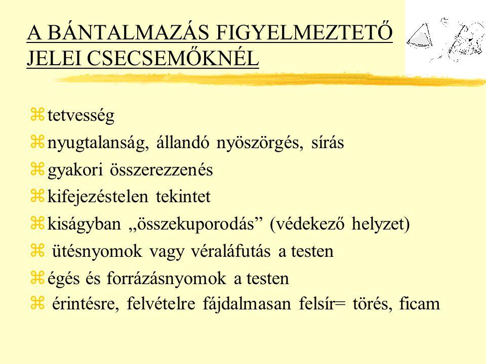 A BÁNTALMAZÁS FIGYELMEZTETŐ JELEI CSECSEMŐKNÉL