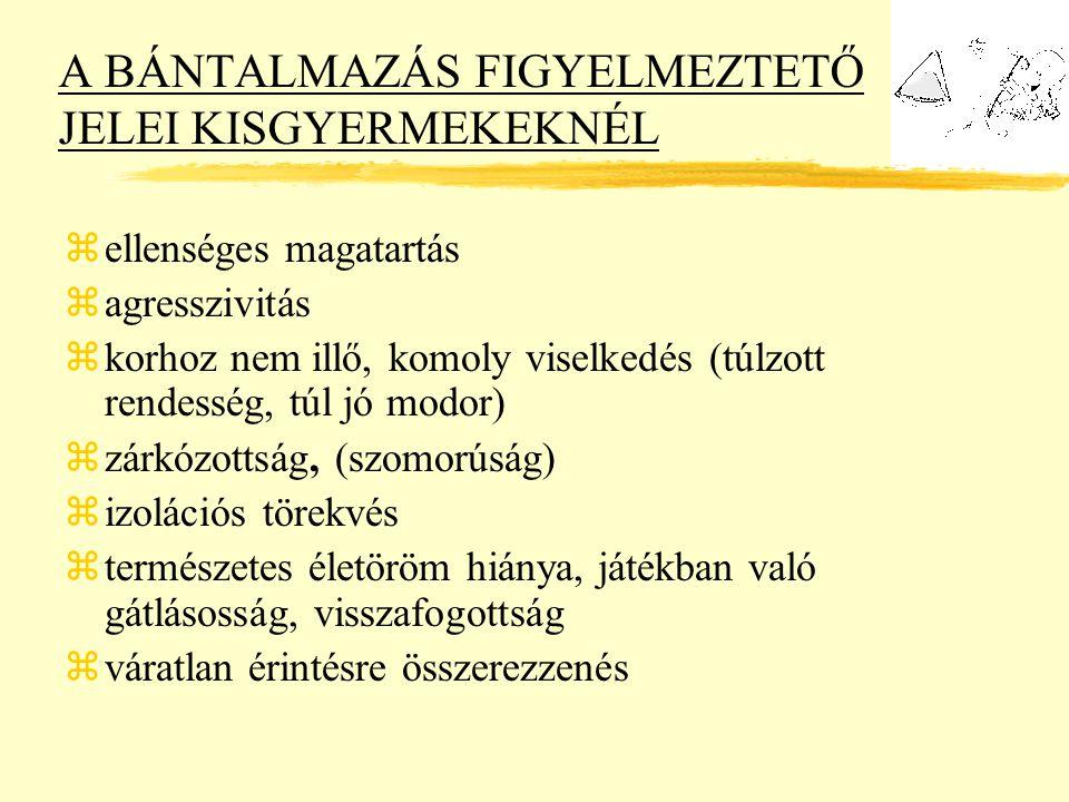 A BÁNTALMAZÁS FIGYELMEZTETŐ JELEI KISGYERMEKEKNÉL