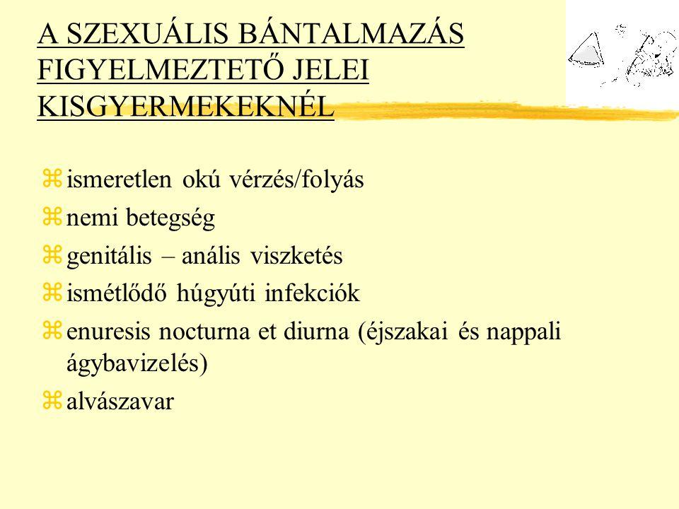 A SZEXUÁLIS BÁNTALMAZÁS FIGYELMEZTETŐ JELEI KISGYERMEKEKNÉL