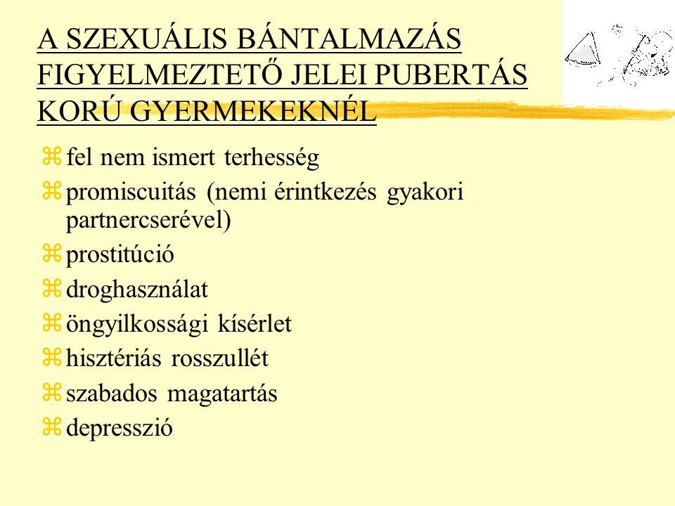 A SZEXUÁLIS BÁNTALMAZÁS FIGYELMEZTETŐ JELEI PUBERTÁS KORÚ GYERMEKEKNÉL