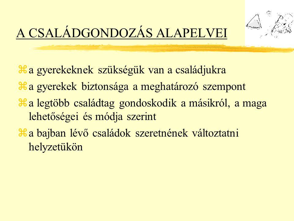 A CSALÁDGONDOZÁS ALAPELVEI