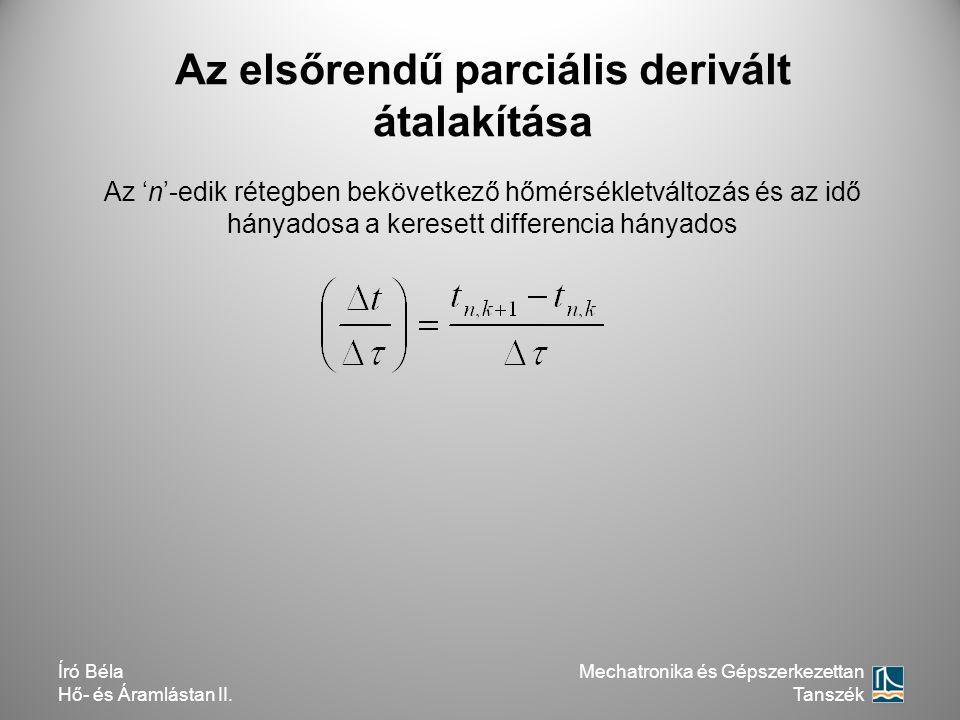 Az elsőrendű parciális derivált átalakítása