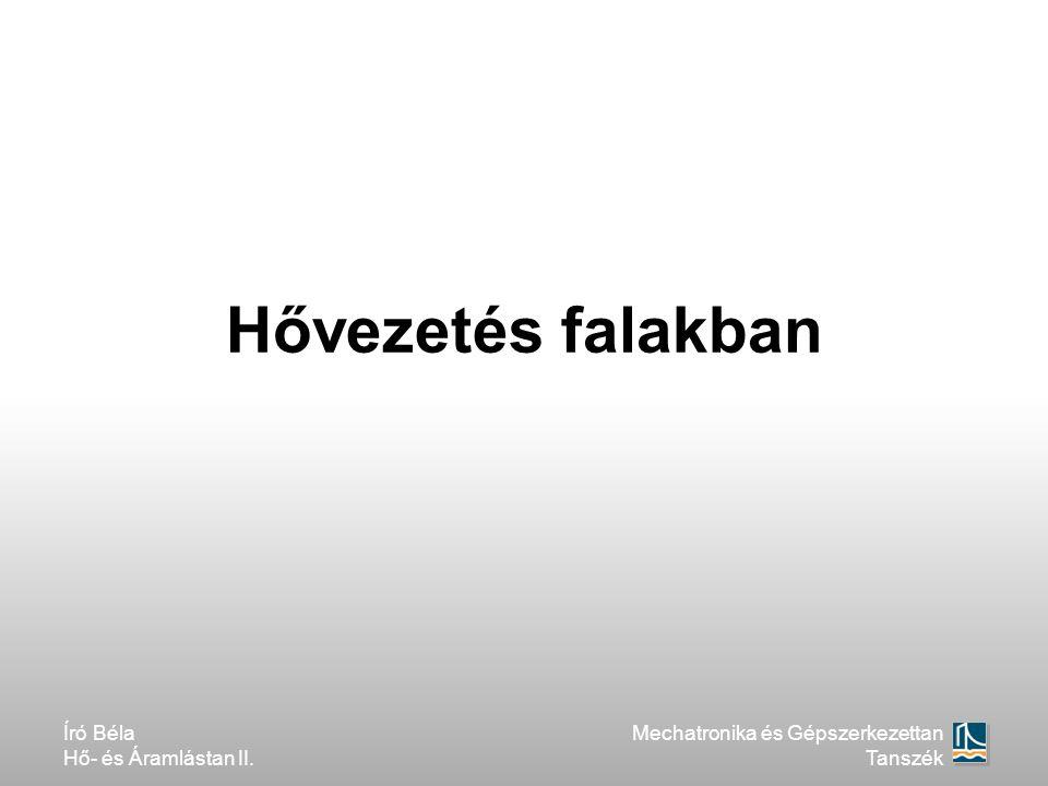 Hővezetés falakban Író Béla Hő- és Áramlástan II.