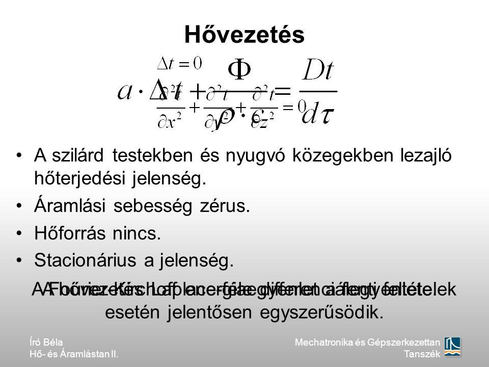 A hővezetés Laplace-féle differenciálegyenlete.