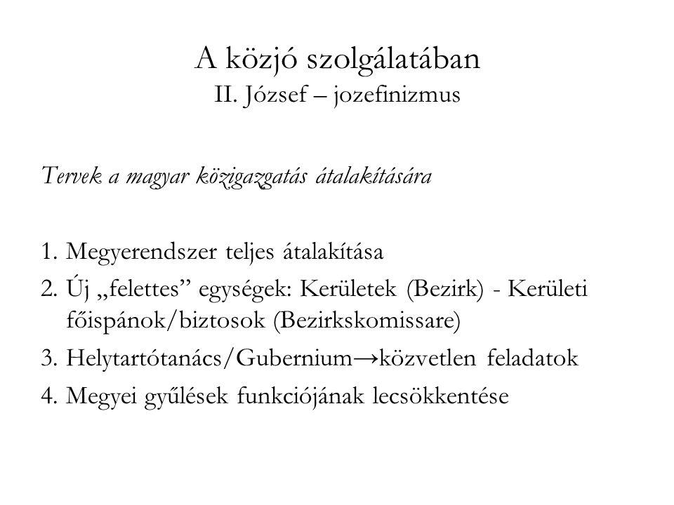 A közjó szolgálatában II. József – jozefinizmus