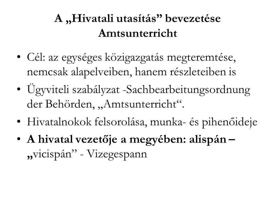 """A """"Hivatali utasítás bevezetése Amtsunterricht"""