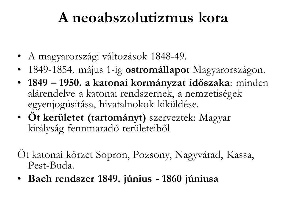 A neoabszolutizmus kora