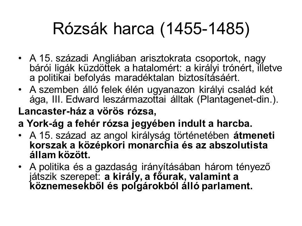 Rózsák harca (1455-1485)