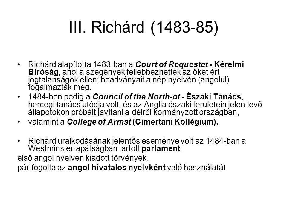 III. Richárd (1483-85)