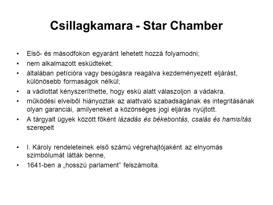 Csillagkamara - Star Chamber