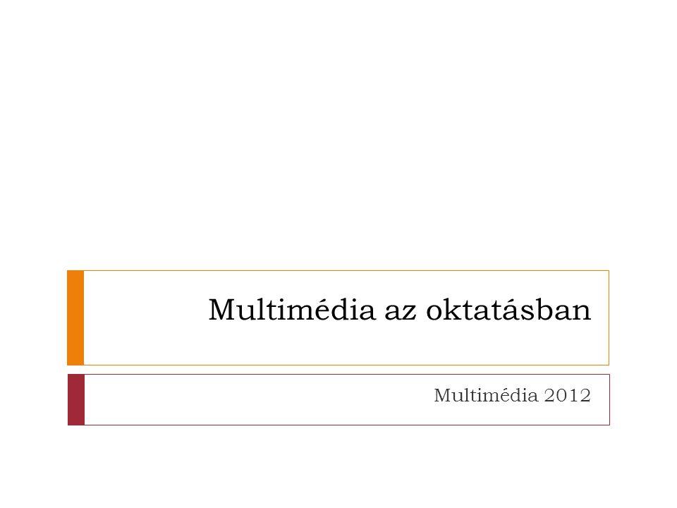 Multimédia az oktatásban