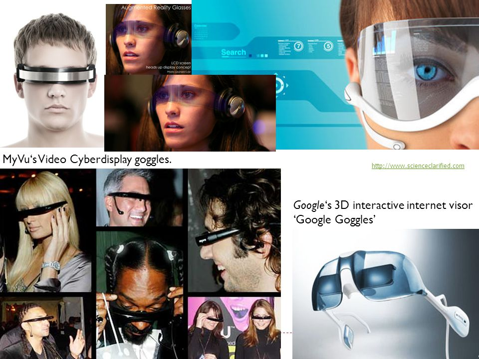 MyVu's Video Cyberdisplay goggles.