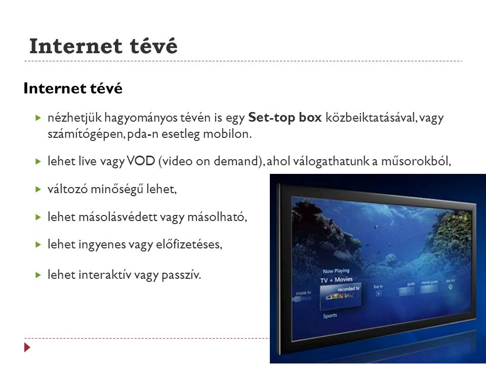 Internet tévé Internet tévé