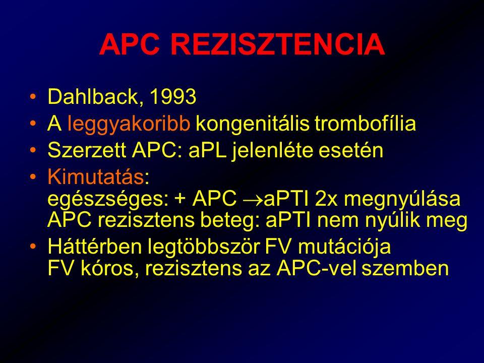 APC REZISZTENCIA Dahlback, 1993