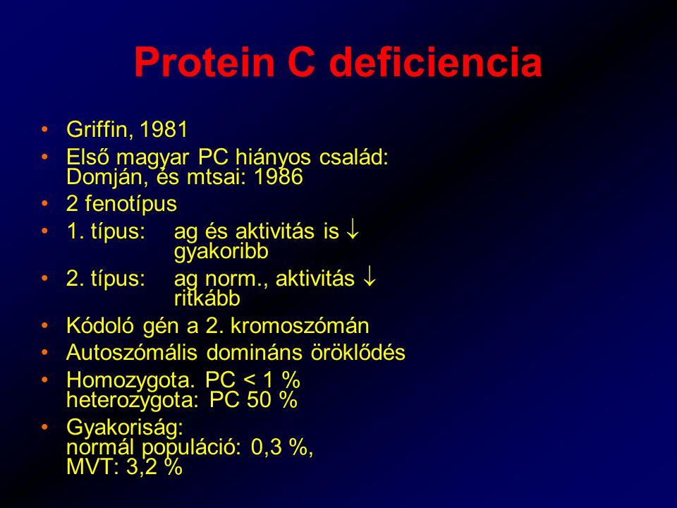 Protein C deficiencia Griffin, 1981