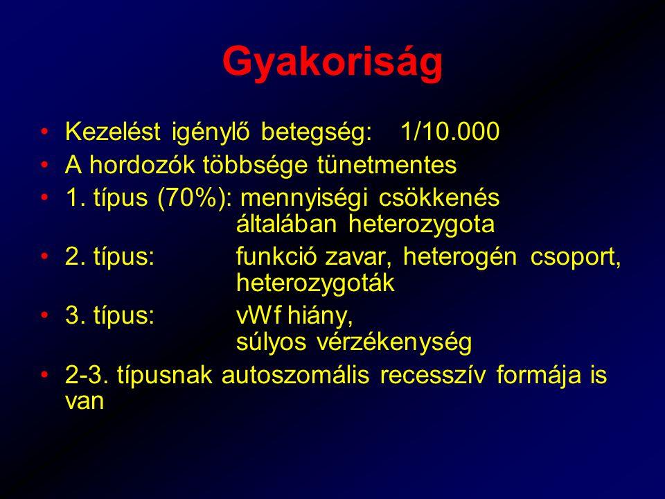 Gyakoriság Kezelést igénylő betegség: 1/10.000