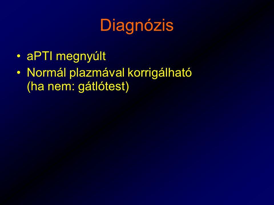 Diagnózis aPTI megnyúlt