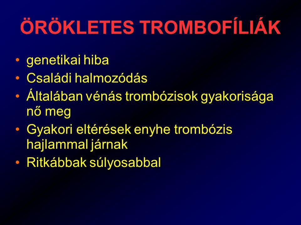 ÖRÖKLETES TROMBOFÍLIÁK