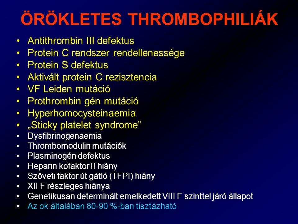 ÖRÖKLETES THROMBOPHILIÁK