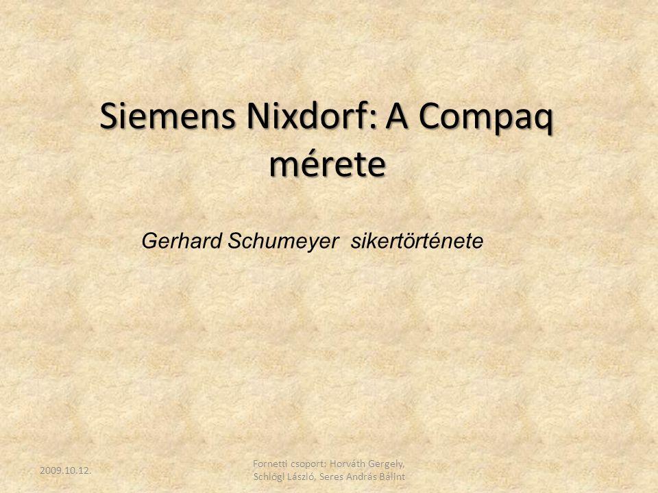 Siemens Nixdorf: A Compaq mérete