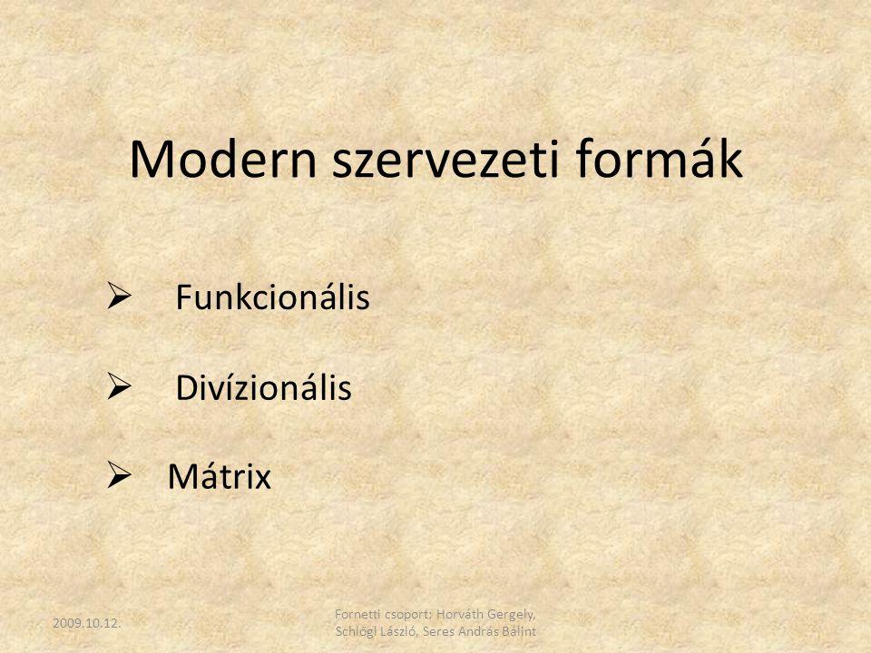 Modern szervezeti formák