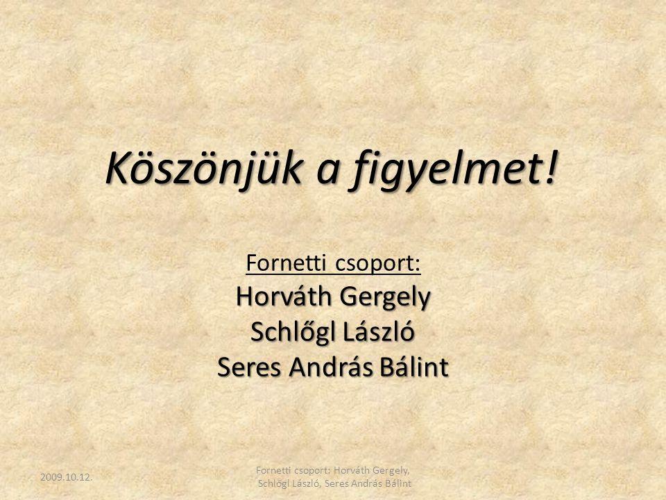 Fornetti csoport: Horváth Gergely, Schlőgl László, Seres András Bálint