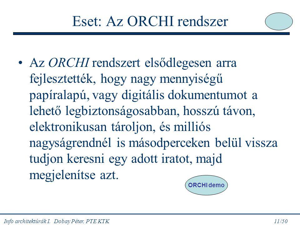 Eset: Az ORCHI rendszer
