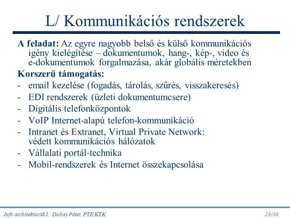 L/ Kommunikációs rendszerek