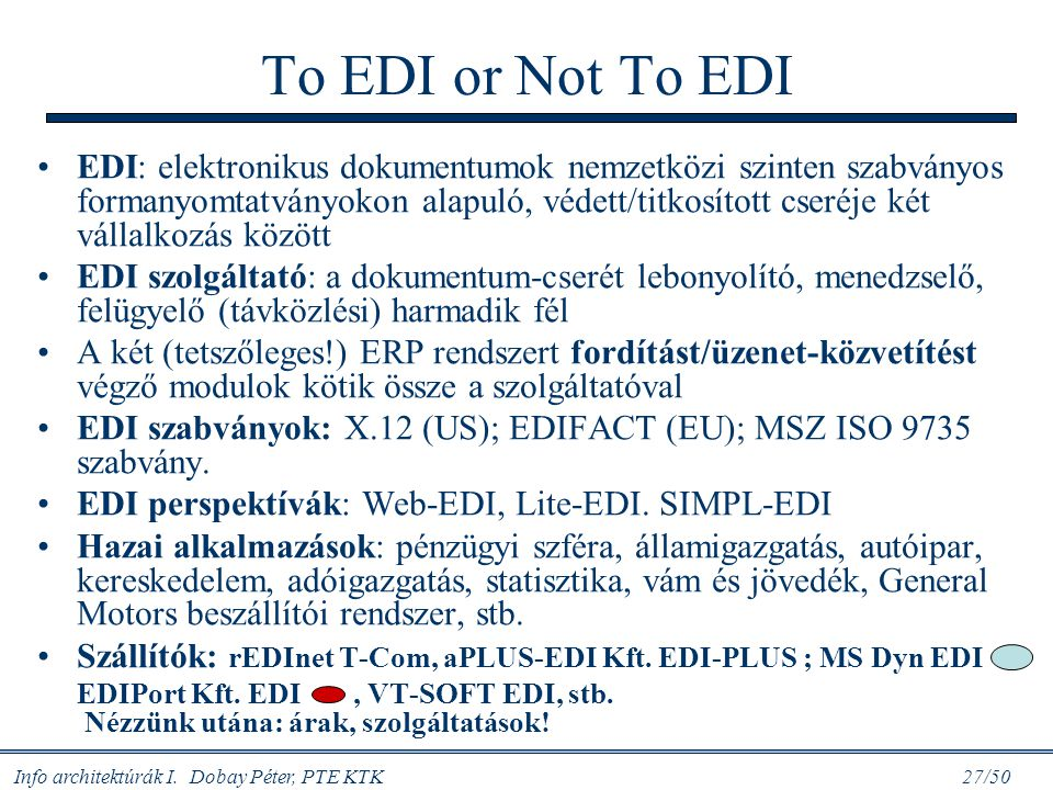 To EDI or Not To EDI