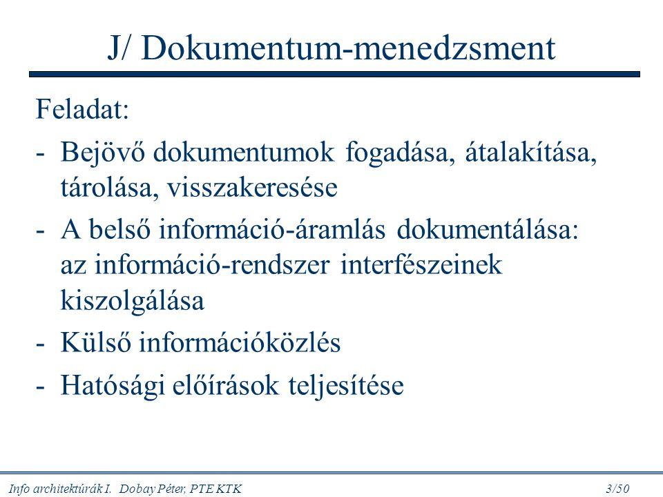 J/ Dokumentum-menedzsment