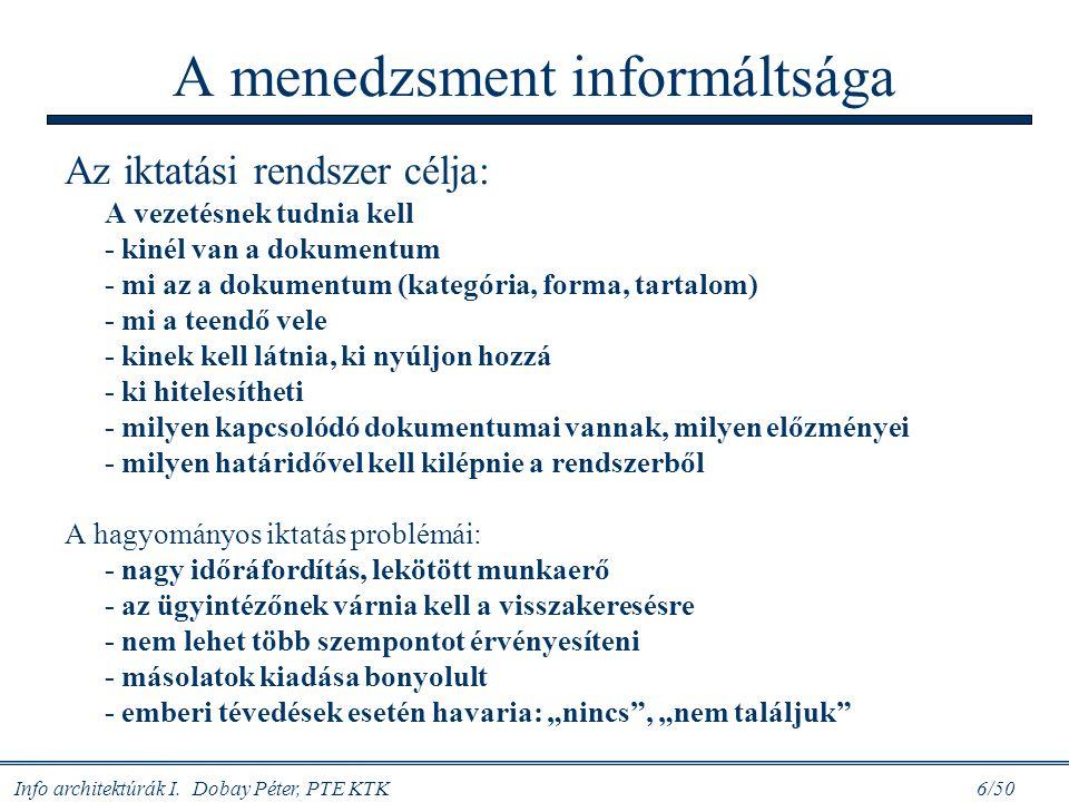 A menedzsment informáltsága