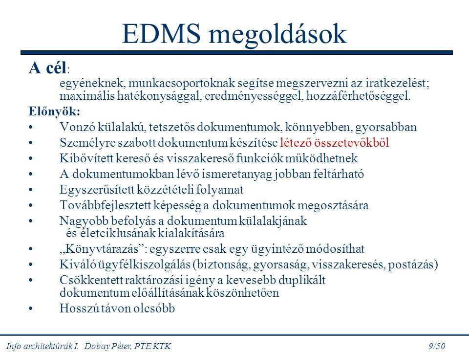 EDMS megoldások