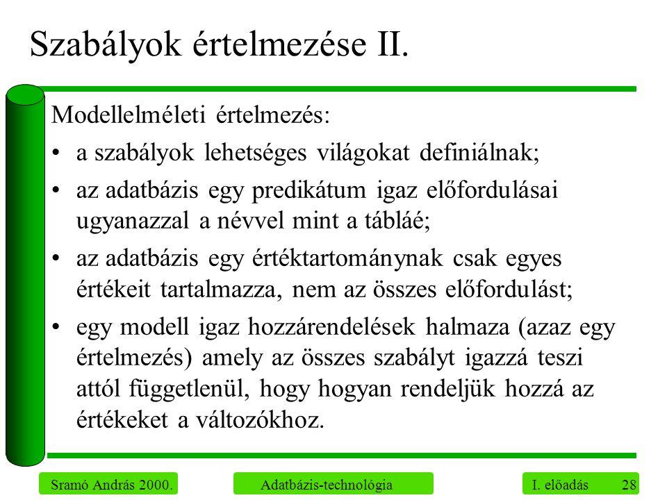 Szabályok értelmezése II.