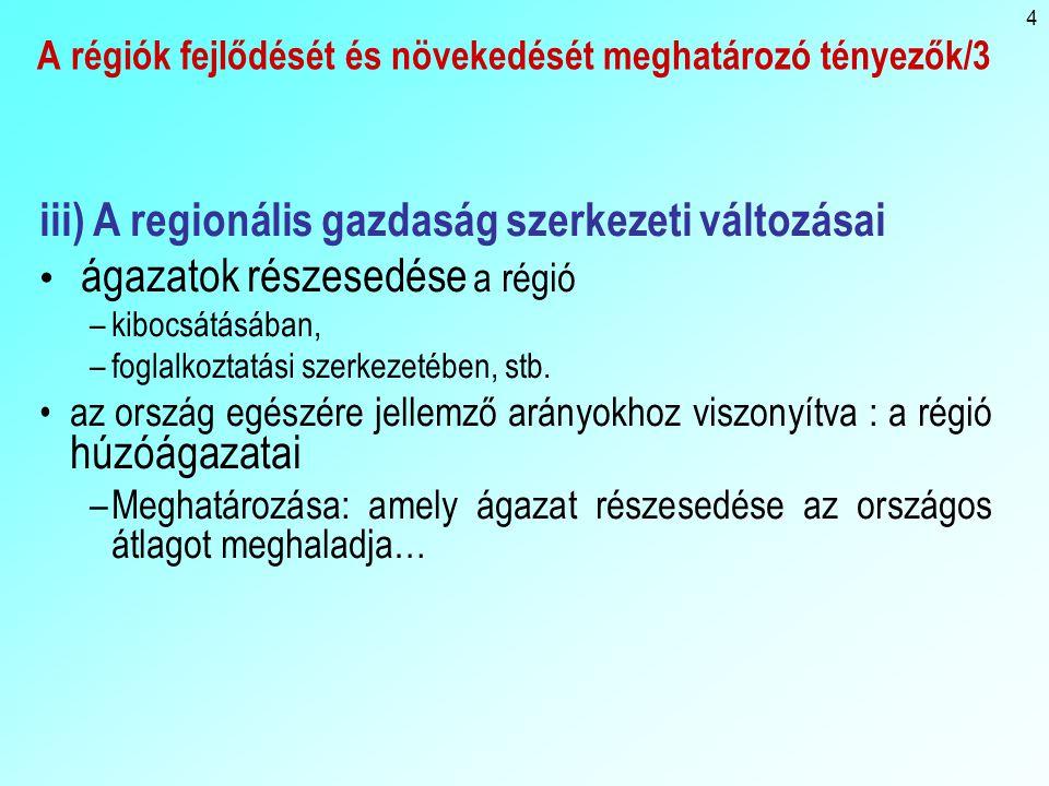 A régiók fejlődését és növekedését meghatározó tényezők/3