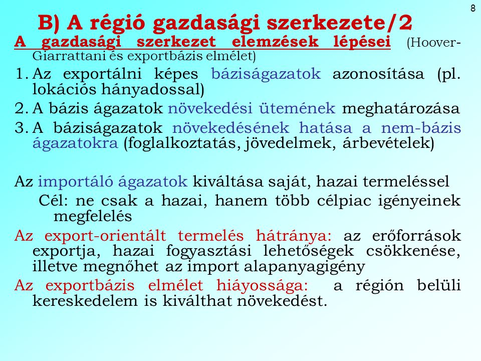 B) A régió gazdasági szerkezete/2