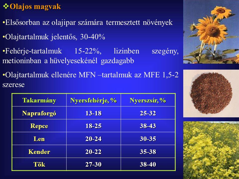 Elsősorban az olajipar számára termesztett növények