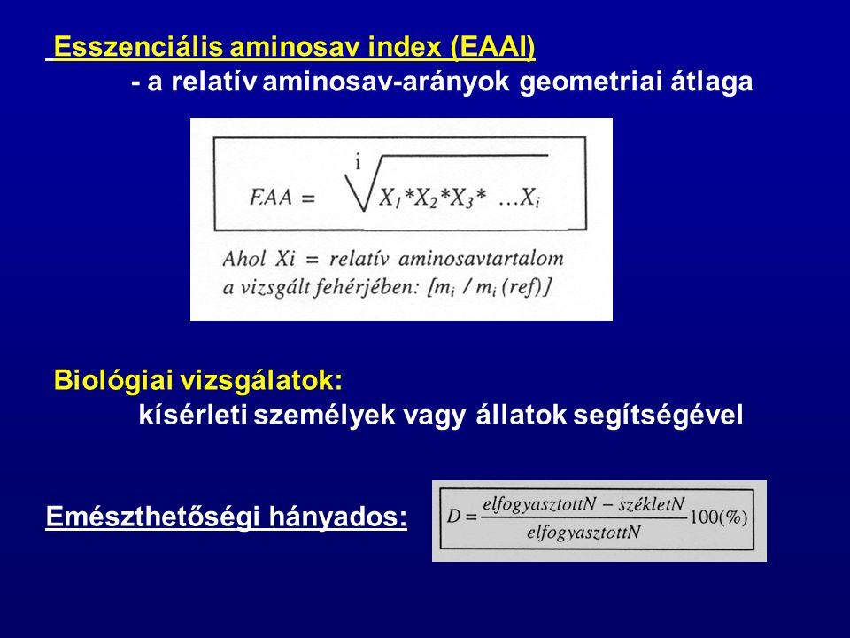 Esszenciális aminosav index (EAAI)