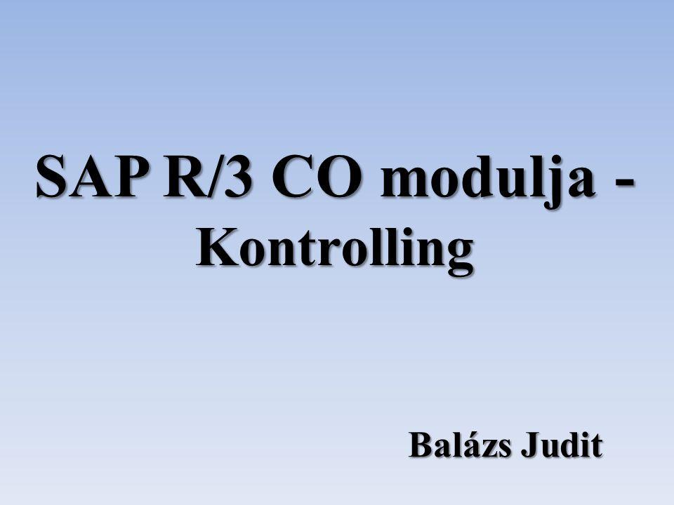 SAP R/3 CO modulja - Kontrolling