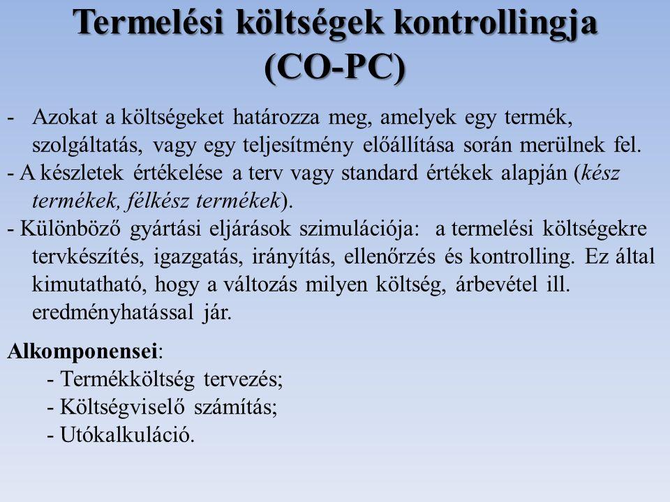Termelési költségek kontrollingja (CO-PC)