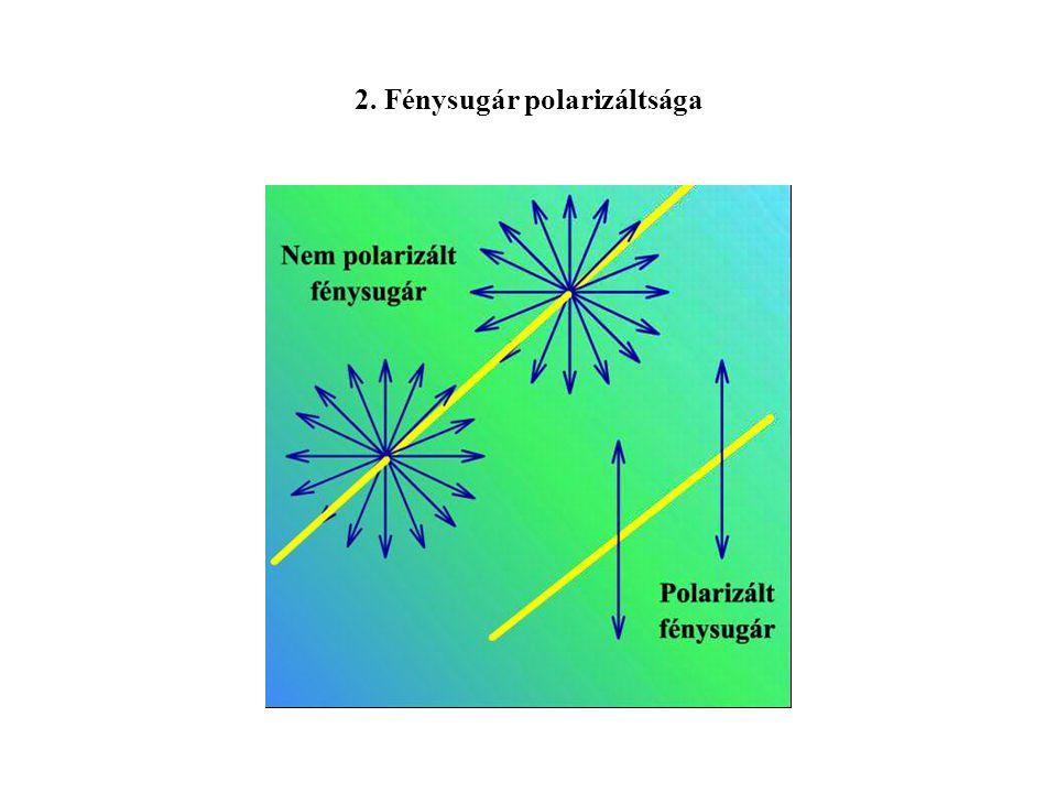 2. Fénysugár polarizáltsága