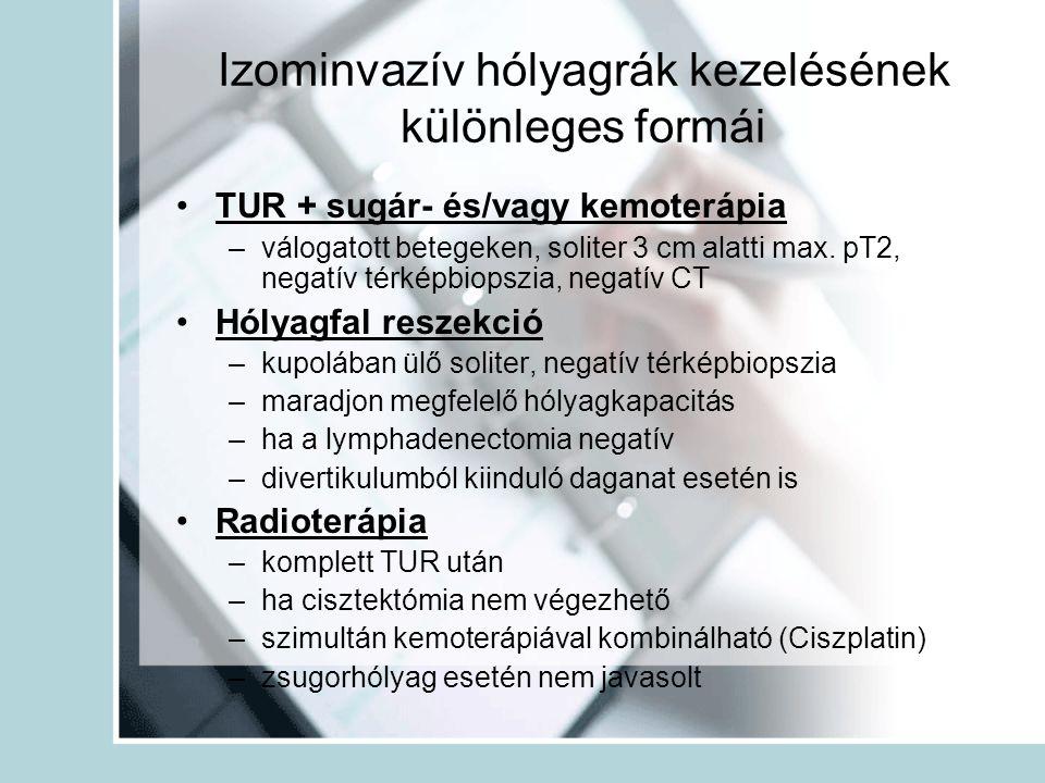 Izominvazív hólyagrák kezelésének különleges formái